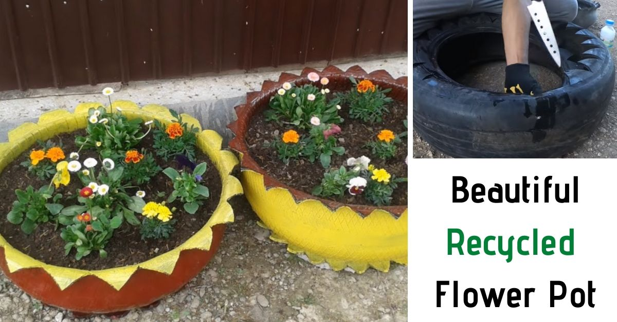 How to Turn Used Car Tire Into a Beautiful Flower Pot