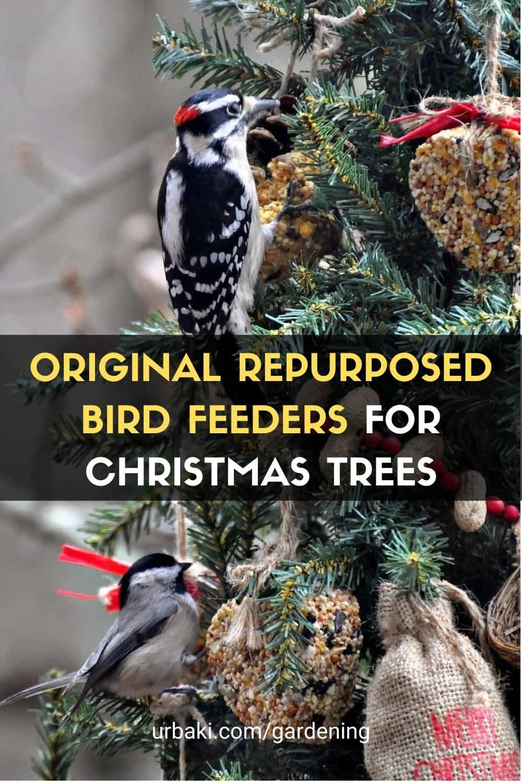 Repurposed Bird Feeders for Christmas Trees