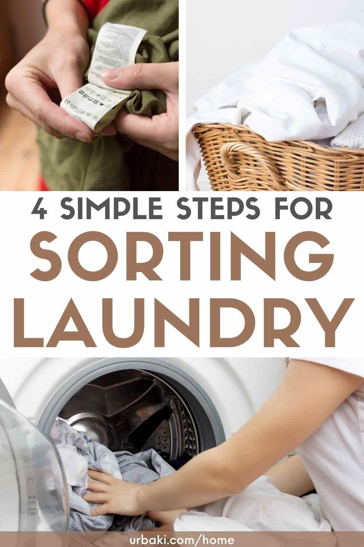 sorting laundry