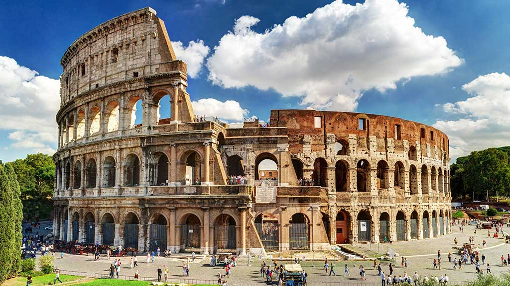 The Roman Colosseum, One of the Major Tourist Attractions in Rome